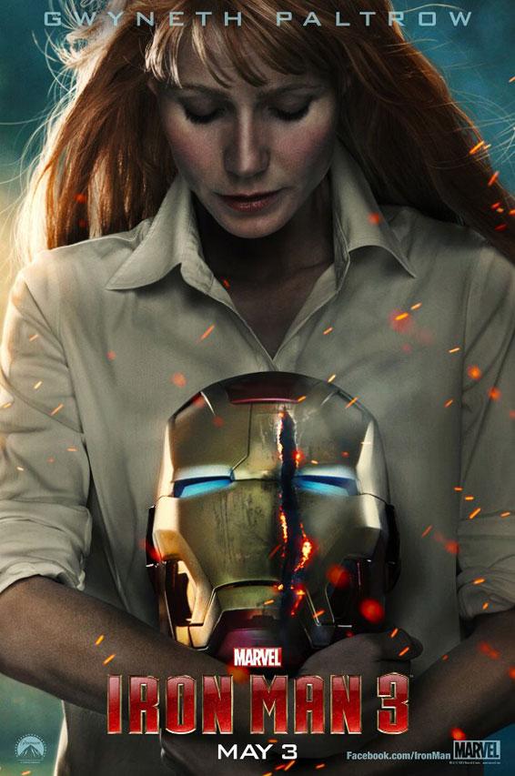 Iron Man 3, morente tra le braccia di Pepper, nel nuovo poster