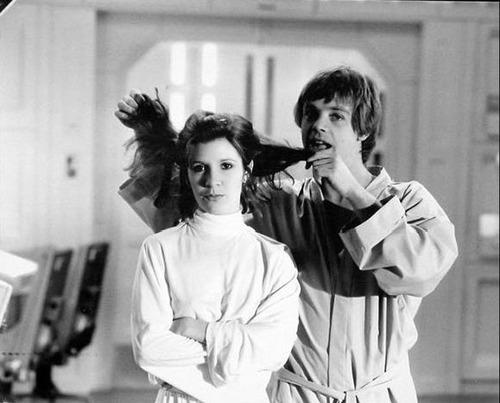 star wars episodio 7 Carrie Fisher e Mark Hamill