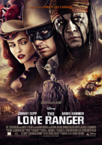 anteprima del poster italiano del film video backstage The Lone Ranger