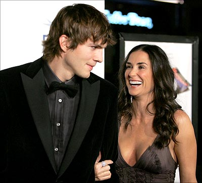 "Demi Moore e il ""toy boy"" Ashton Kutcher"