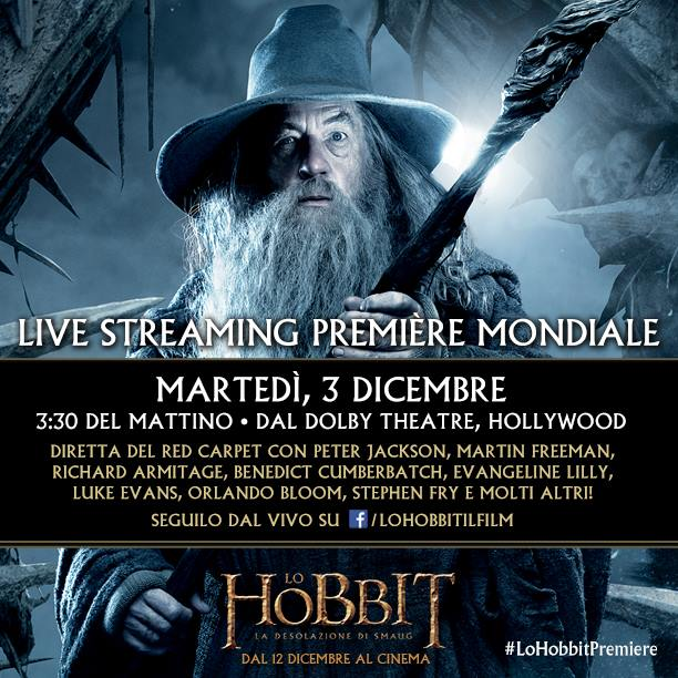 Lo hobbit: la desolazione di smaug streaming del red carpet di berlino