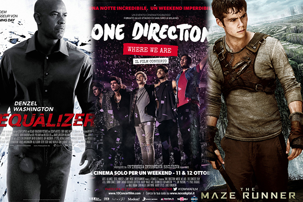 Box office week-end 10 ottobre Top 5 One Direction The Equalizer The Maze Runner Lucy Tutto molto bello