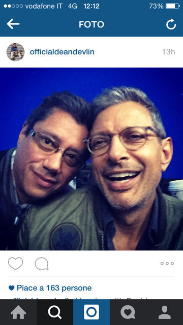 Jeff Goldblum sul set di independence 2