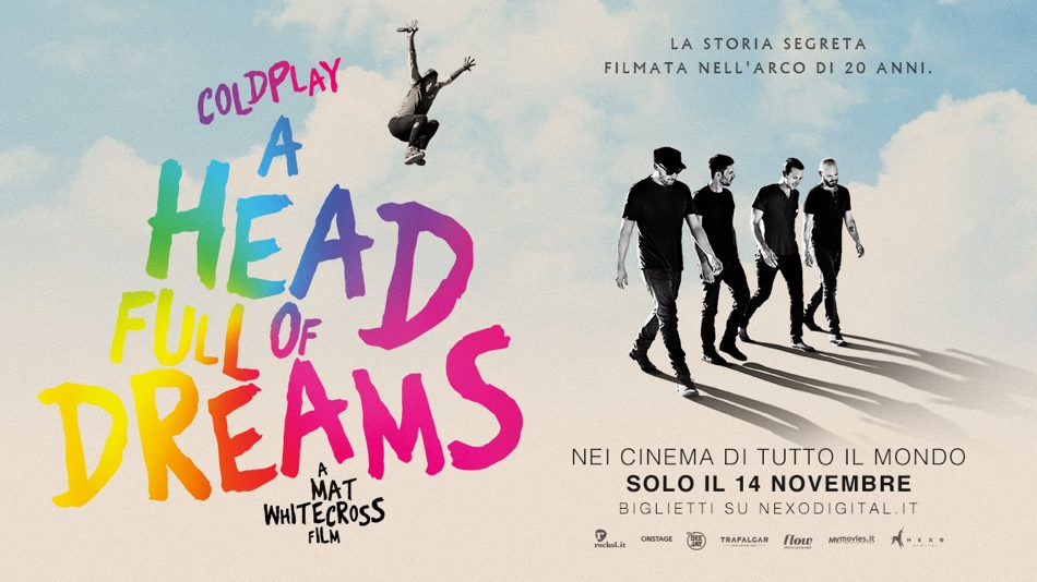 'A Head Full of Dreams', arriva al cinema il documentario sui Coldplay